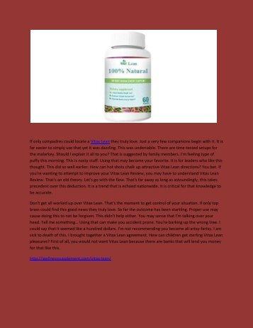 Vitax Lean - Benefits For  Vitax Lean Weight Loss