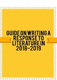 Guide on Writing A Response to Literature in 2018-2019