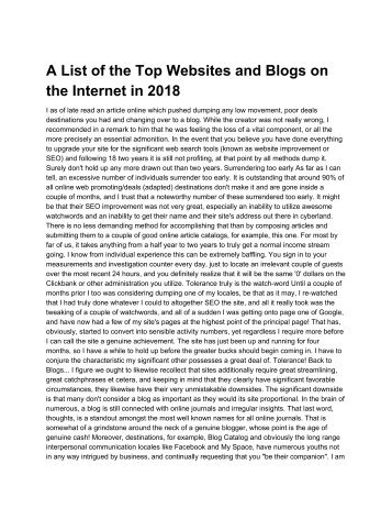 A List of the Top Websites and Blogs on the Internet in 2018