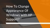 How To Change Appearance Of Windows with HP Support