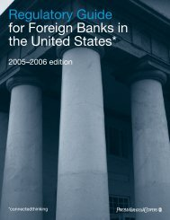 Regulatory Guide for Foreign Banks in the United States* - PwC