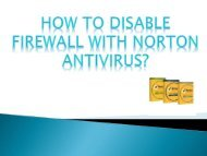 How to Disable Firewall with Norton Antivirus