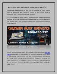 Get Garmin GPS Map Updates free Call Toll Free No. 1800-215-732