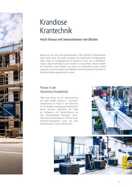 Böcker Krantechnik - Auto-, Anhänger- und Raupenkrane