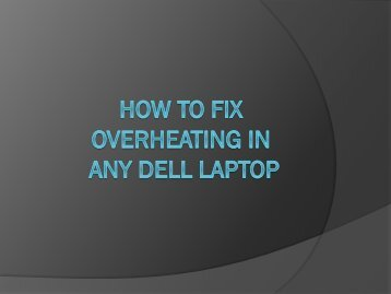 How to Quickly fix heating issue in any dell laptop