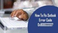 1-800-208-9523 | Fix Outlook Error Code 0x800CCC13