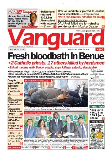 25042018 - Fresh bloodbath in Benue