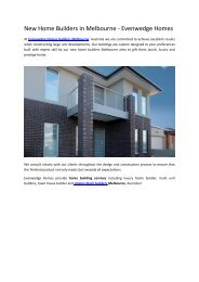 New Home Builders in Melbourne - Evenwedge Homes