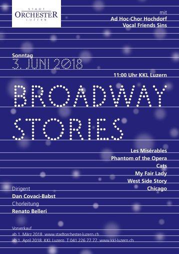 Programm Broadway Stories