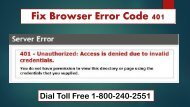 How To Fix Browser Error Code 401 Dial 1-800-240-2551 Toll Free