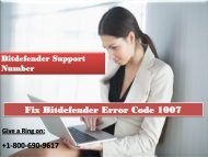 Fix Bitdefender Error Code 1007