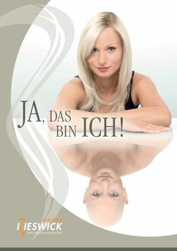Rieswick Zweithaar-Manufaktur Imagebroschüre DE