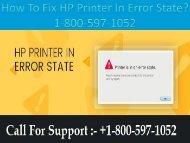 Call +1-800-597-1052  Fix HP Printer In Error State | For HP printer
