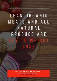 Lean Organic Meats And All Natural Produce Are Key To Weight Loss
