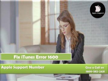 Fix iTunes Error 1600