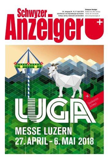 Schwyzer Anzeiger – Woche 17 – 27. April 2018