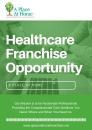 Get Healthcare Franchise Opportunity - A Place At Home Franchise