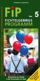 Fichtelgebirgs-Programm - Mai 2018