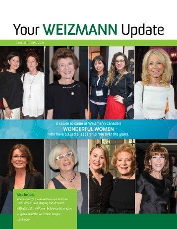 Your WEIZMANN Update