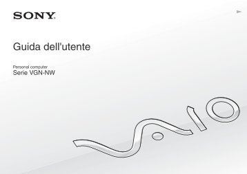 Sony VGN-NW20ZF - VGN-NW20ZF Mode d'emploi Italien