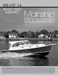 pilot 34 boat test report - Mainship