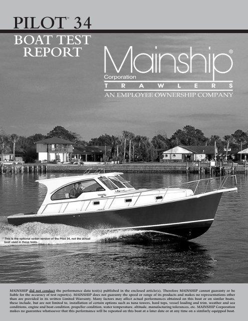 pilot 34 boat test report - Mainship