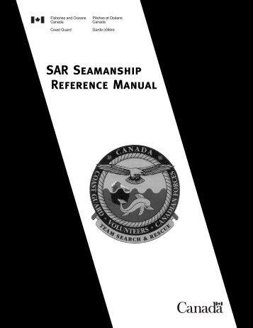SAR Seamanship Reference Manual - Canadian Coast Guard