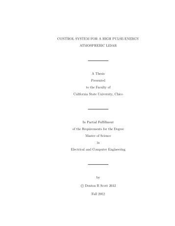 Master thesis in physics