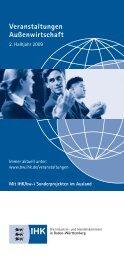 13. November 2009 Wir servieren Ihnen Auslandsmärkte - Baden ...