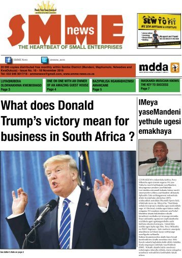 SMME NEWS - NOV 2016 ISSUE