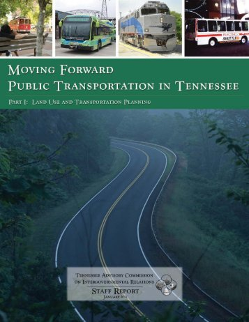 Moving Forward: Public Transportation in Tennessee - TN.gov