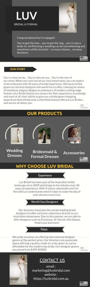 Luv Bridal & Formal Wedding Dresses Australia