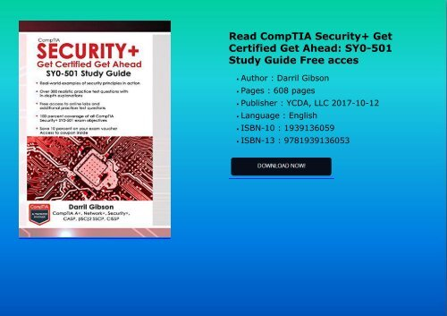 Download pdf comptia security certification study guide second.