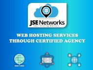 Web Hosting Services Through Certified Agency