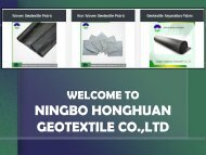 Shop for Non Woven Geotextile Fabric at Ningbo Honghuan Geotextile Co., Ltd