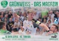 Grünweiss - Spieltagsmagazin SC DHfK Leipzig vs. THW Kiel