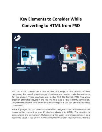 Key Elements to Consider While Converting to HTML from PSD