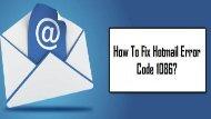 1-800-208-9523 | Fix Outlook Error Code 1086