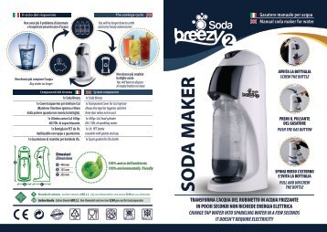 Soda Breezy 2 Soda Maker - Manuale ITA/ENG