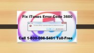 How To Fix iTunes Error Code 3600? Call 1-800-608-5461 Toll-Free