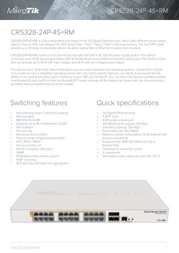CRS328-24P-4S+RM mikrotik -mstream.com.ua