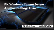 Fix Windows Cannot Delete AppCompatflags Error 1-800-220-1041