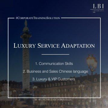 LBI Corporate Training Solution: Luxury Service Adaptation (ENG)