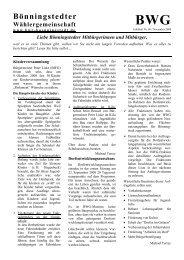 Liebe Bönningstedter Mitbürgerinnen und Mitbürger