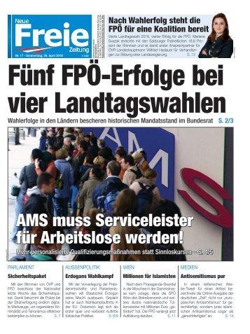 Fünf FPÖ-Erfolge bei vier Landtagswahlen
