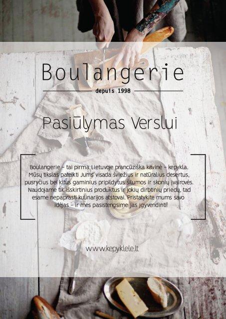 Boulangerie katalogas