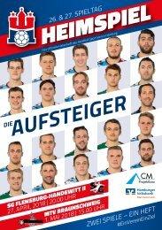 Doppel-Hallenheft Handball Sport Verein Hamburg - SG Flensburg Handewitt II - MTV Braunschweig