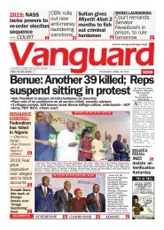 26042015 - Benue: Another 39 killed; Reps suspend sitting in protest