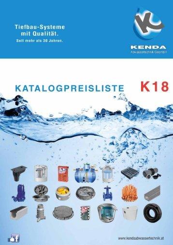 Preisliste K18 Stand 10-4-2018