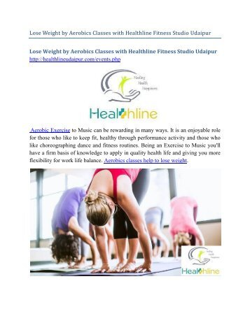 Lose Weight by Aerobics Exercises with healthline Fitness Studio